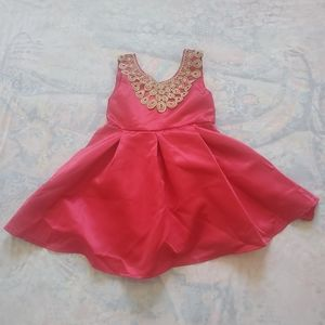 NWT. Tong Tong Mi. Girls Red Formal Dress